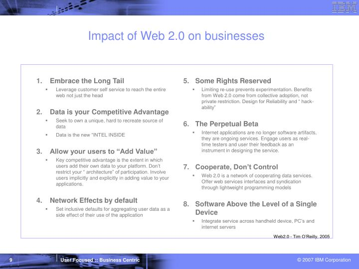 Impact of Web 2.0 on businesses