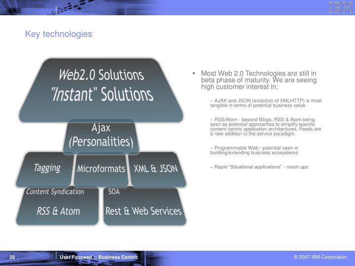 Key technologies