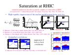 saturation at rhic