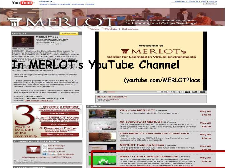 In MERLOT's YouTube Channel