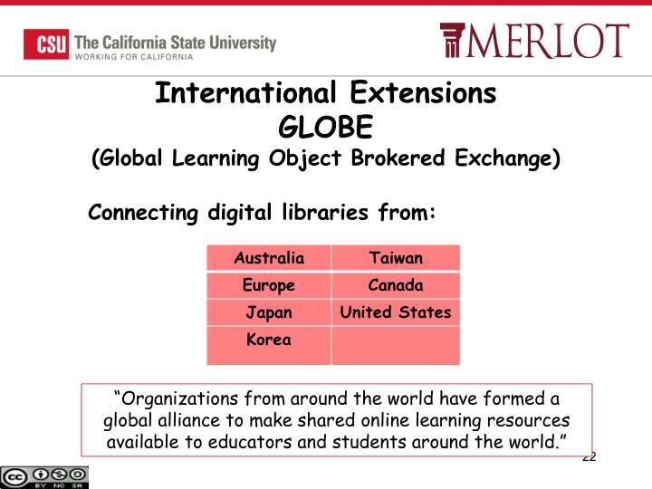 International Extensions
