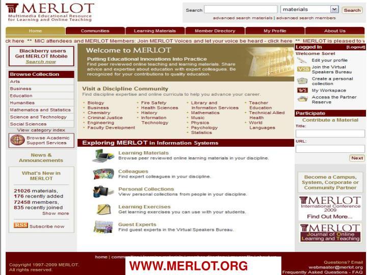 WWW.MERLOT.ORG