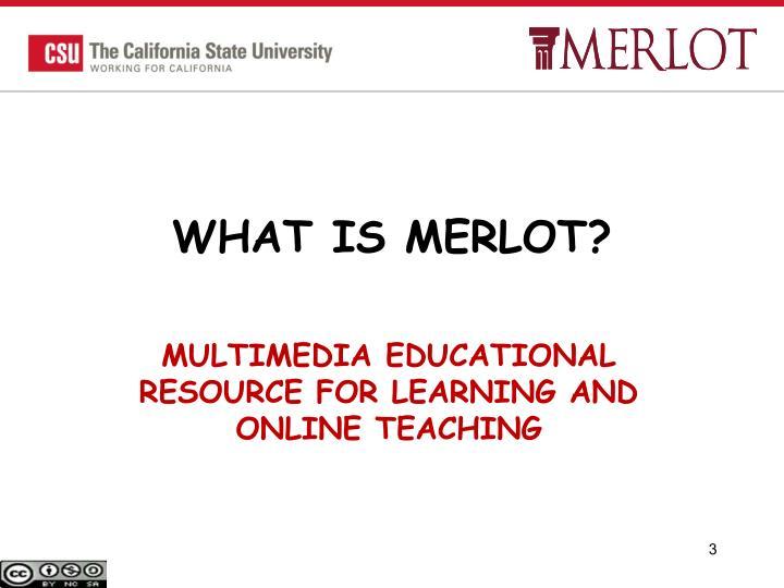 WHAT IS MERLOT?