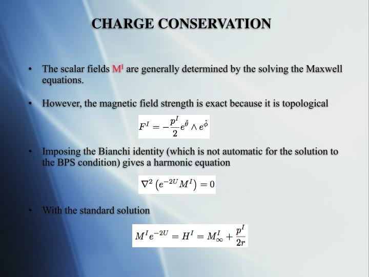 CHARGE CONSERVATION