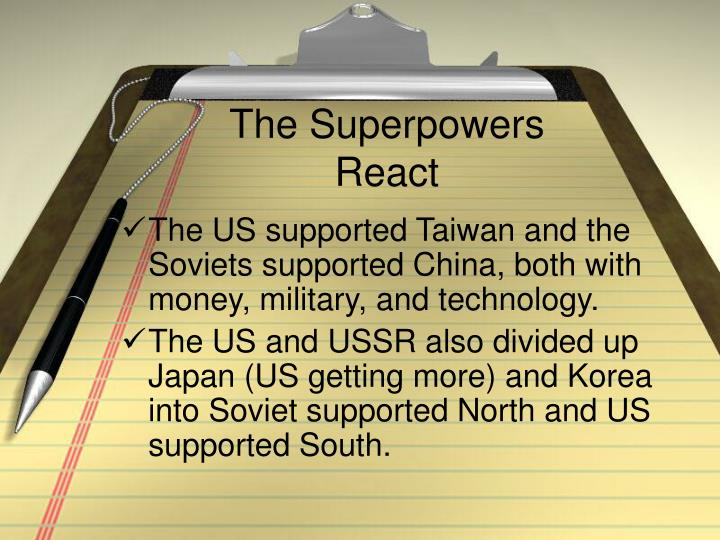 The Superpowers React