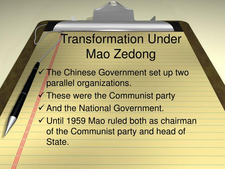 Transformation Under Mao Zedong