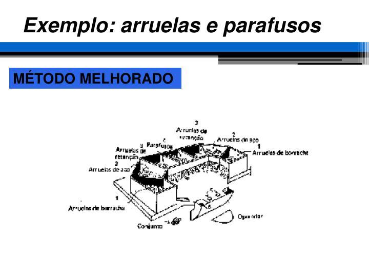 Exemplo: arruelas e parafusos