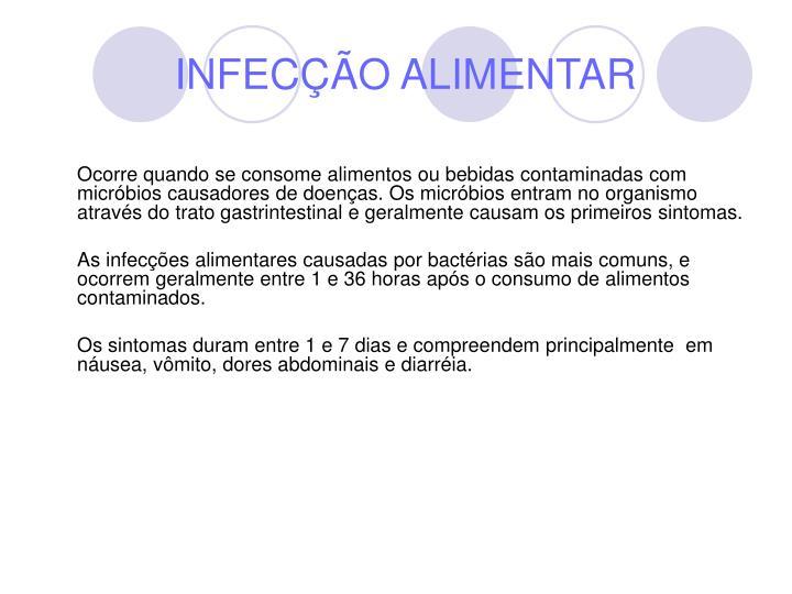 INFECÇÃO ALIMENTAR