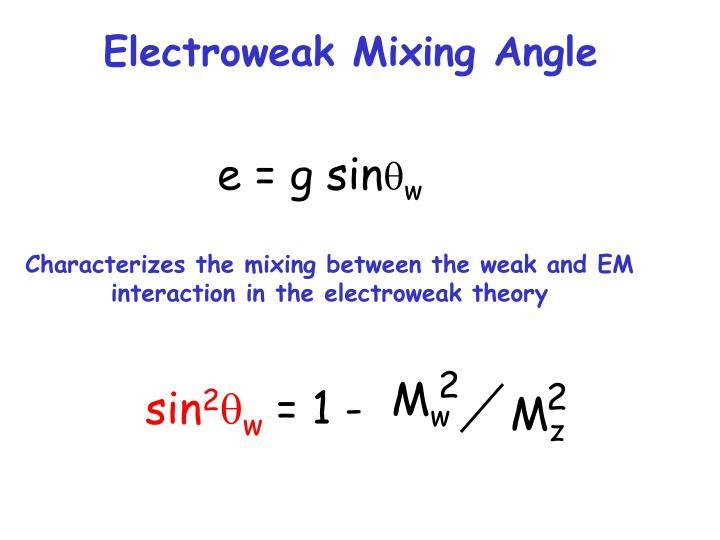 Electroweak Mixing Angle