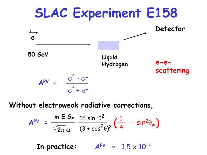 SLAC Experiment E158
