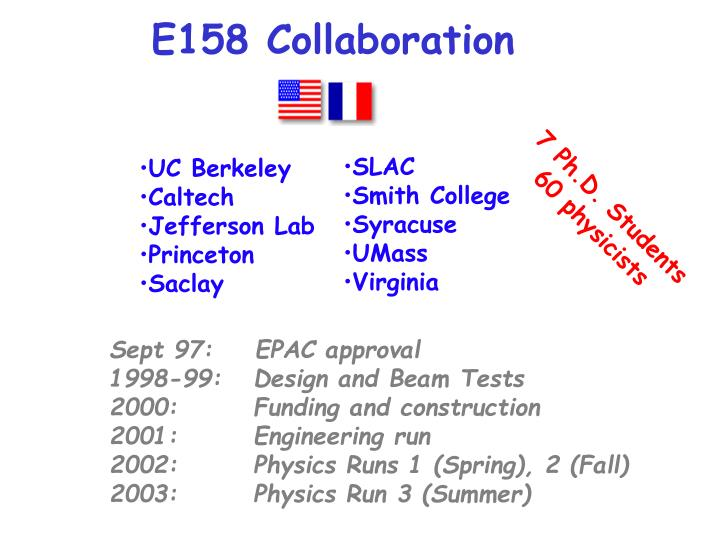E158 Collaboration
