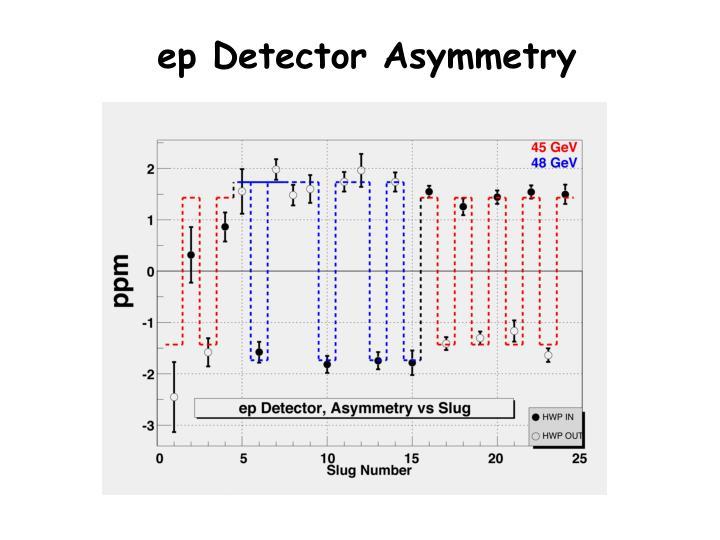 ep Detector Asymmetry