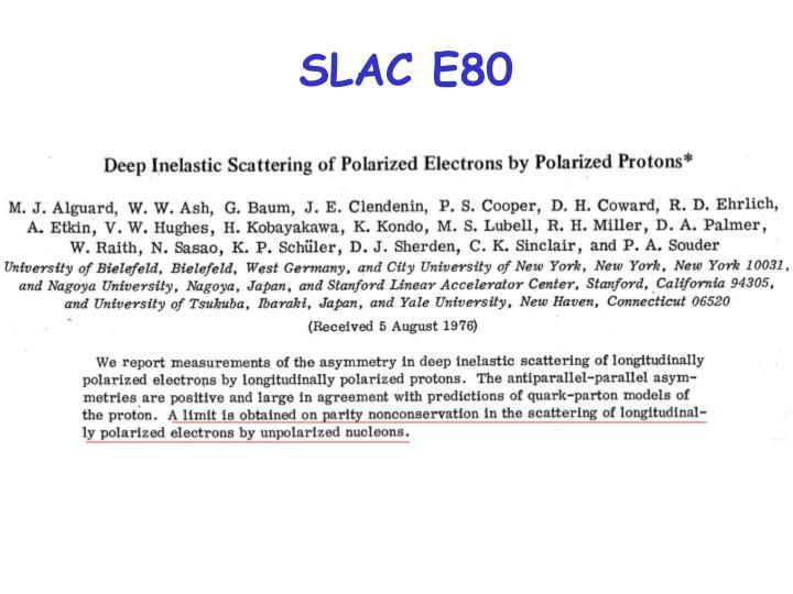 SLAC E80
