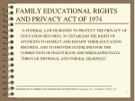 family educational rights and privacy act of 1974
