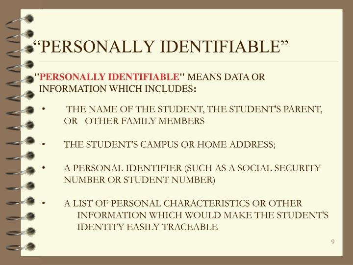 """""""PERSONALLY IDENTIFIABLE"""""""