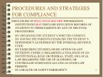 procedures and strategies for compliance11