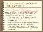 procedures and strategies for compliance12