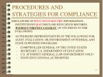 procedures and strategies for compliance2