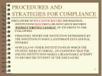 procedures and strategies for compliance3