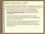 procedures and strategies for compliance4