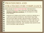 procedures and strategies for compliance6