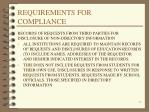 requirements for compliance19