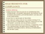 requirements for compliance5