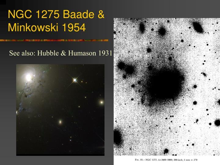 NGC 1275 Baade & Minkowski 1954