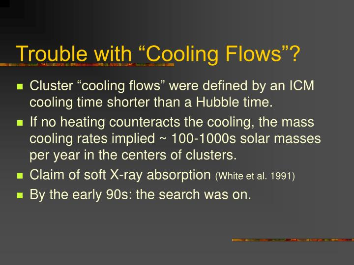 """Trouble with """"Cooling Flows""""?"""