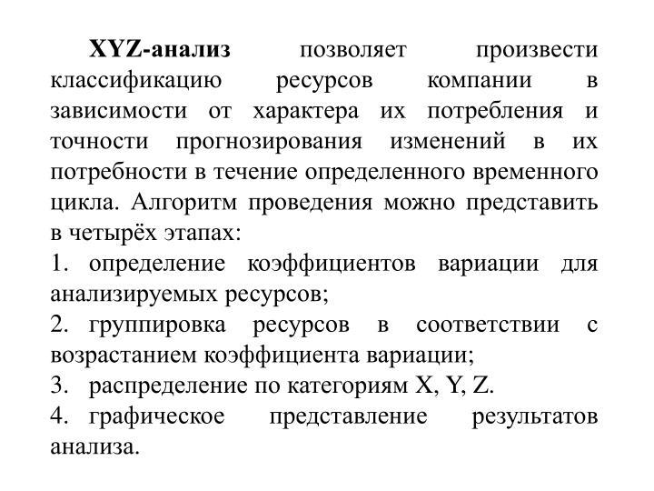 XYZ-анализ