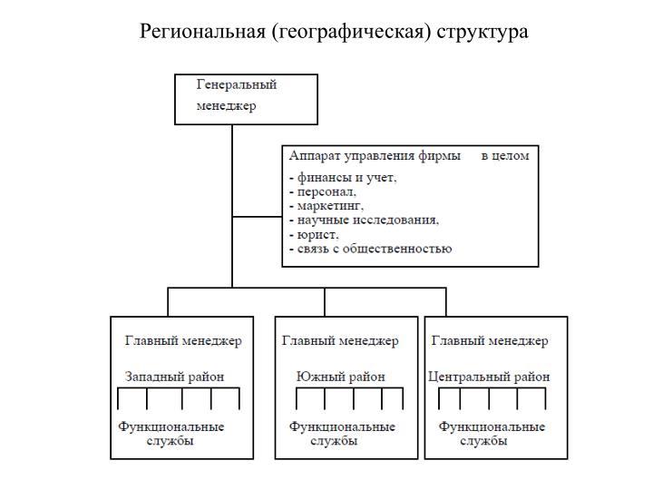 Региональная (географическая) структура