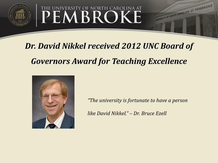Dr. David Nikkel