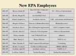 new epa employees