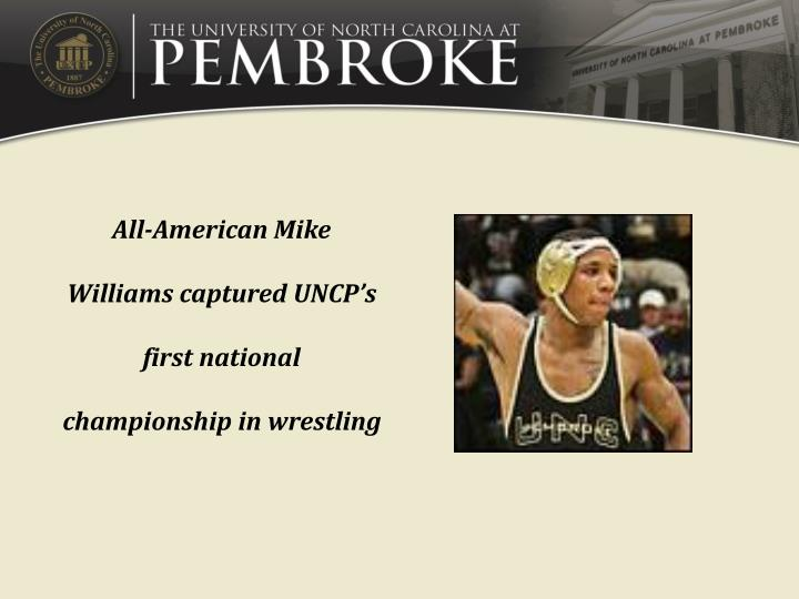 All-American Mike Williams captured UNCP