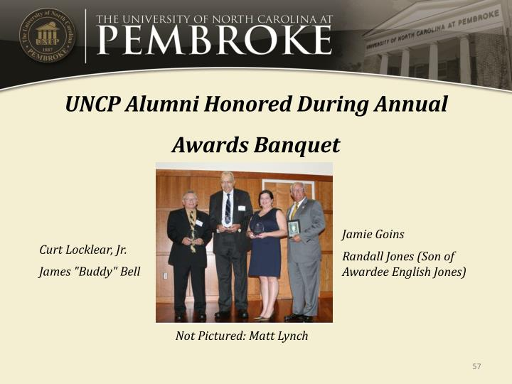 UNCP Alumni Honored During Annual Awards Banquet