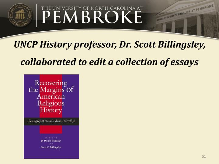 UNCP History professor, Dr. Scott Billingsley, collaborated to edit a collection of essays