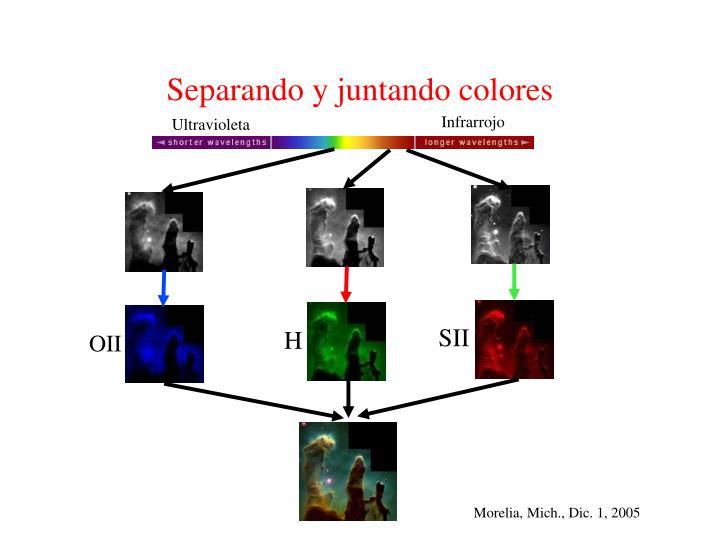 Separando y juntando colores
