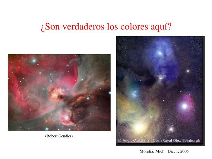 ¿Son verdaderos los colores aquí?