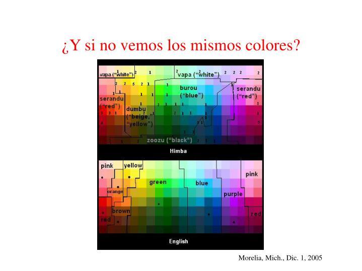 ¿Y si no vemos los mismos colores?