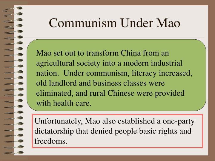 Communism Under Mao