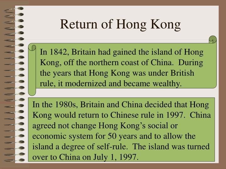Return of Hong Kong
