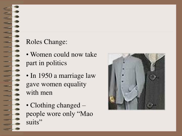 Roles Change: