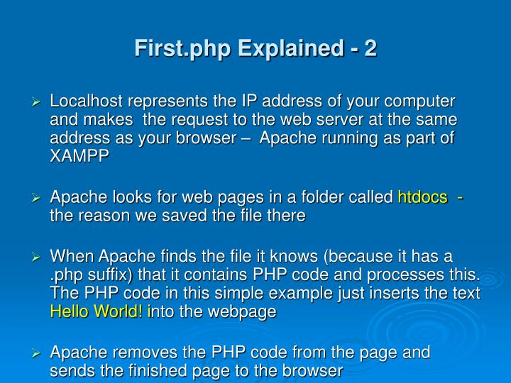 First.php Explained - 2