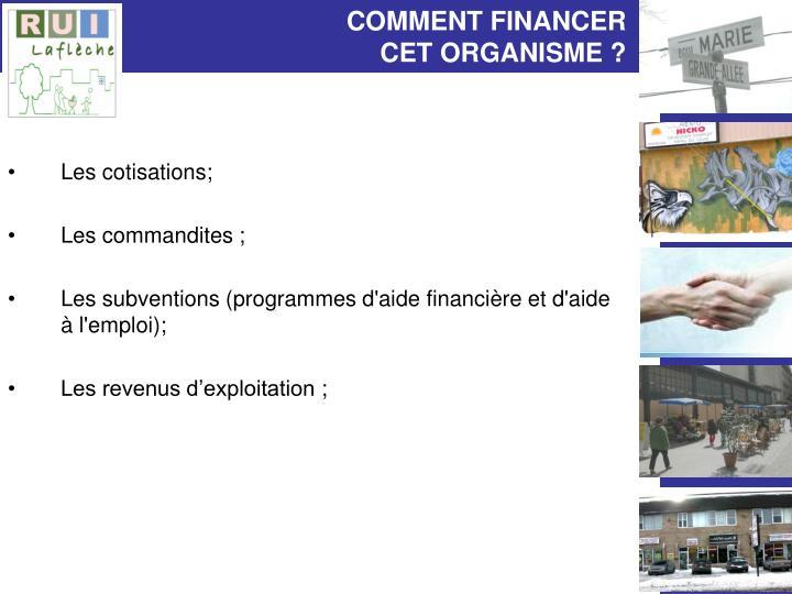 COMMENT FINANCER