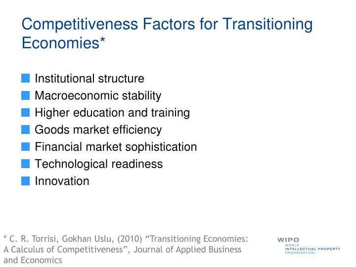 Competitiveness Factors for Transitioning Economies*
