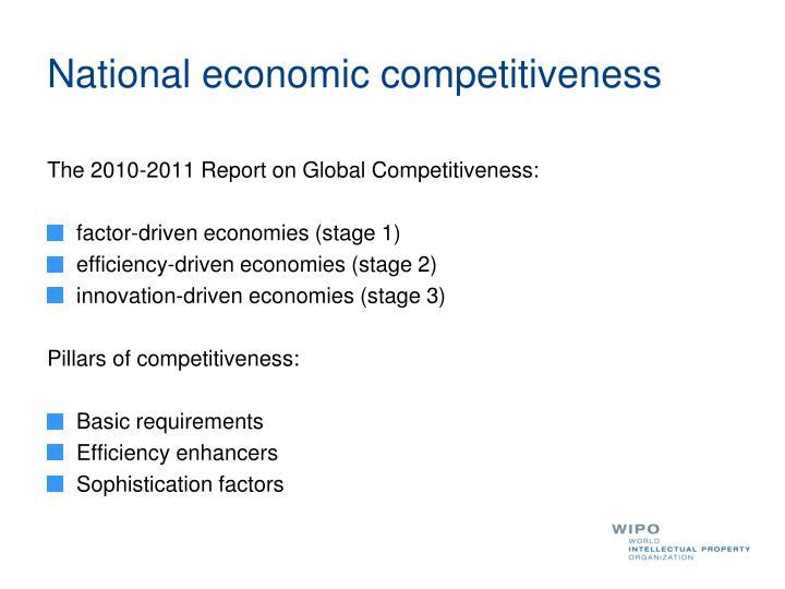 National economic competitiveness