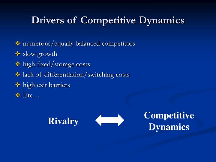 Drivers of Competitive Dynamics
