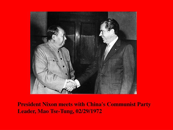 President Nixon meets with China's Communist Party Leader, Mao Tse-Tung, 02/29/1972