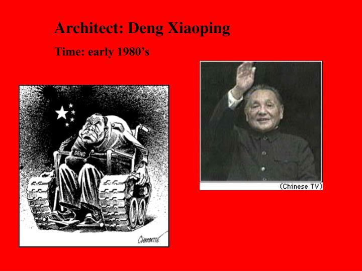Architect: Deng Xiaoping