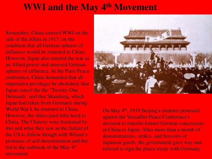 WWI and the May 4